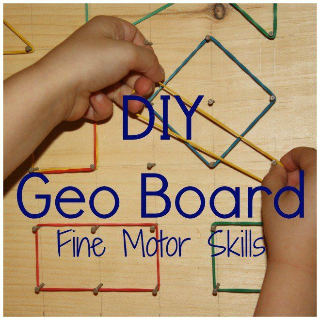 geo board homemade DIY rubber band shapes