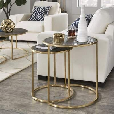 Everly Quinn Dupont 2 Piece Coffee Table Set Wayfair Coffee Table Setting Coffee Table Side Table Decor