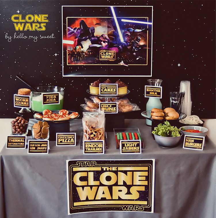 If cake's not your thing, set up a Star Wars dessert table — it'll be a hit, guaranteed.