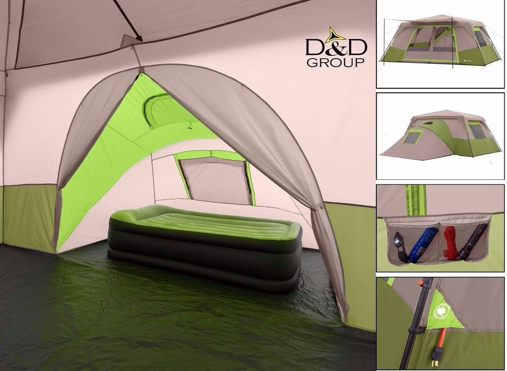 Awe Inspiring Details About 11 Person Instant Camping Cabin Tent Outdoor Download Free Architecture Designs Rallybritishbridgeorg