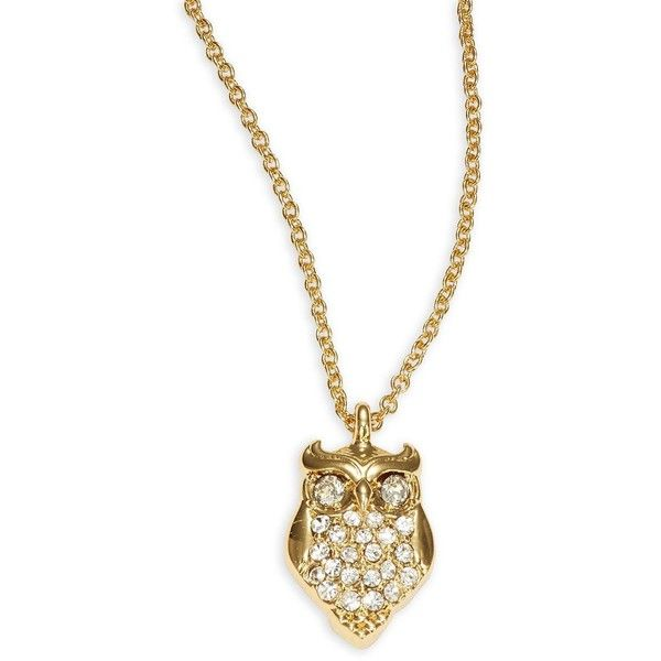 Kate Spade New York Things We Love Owl Pendant Necklace (105 BRL) ❤ liked on Polyvore featuring jewelry, necklaces, accessories, gold, kate spade, golden pendant necklace, golden jewellery, kate spade necklace and owl necklace