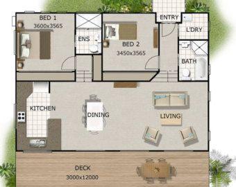 120m2 4 Bedrooms Home Plan 2 Bed 2 Bedroom Acreage