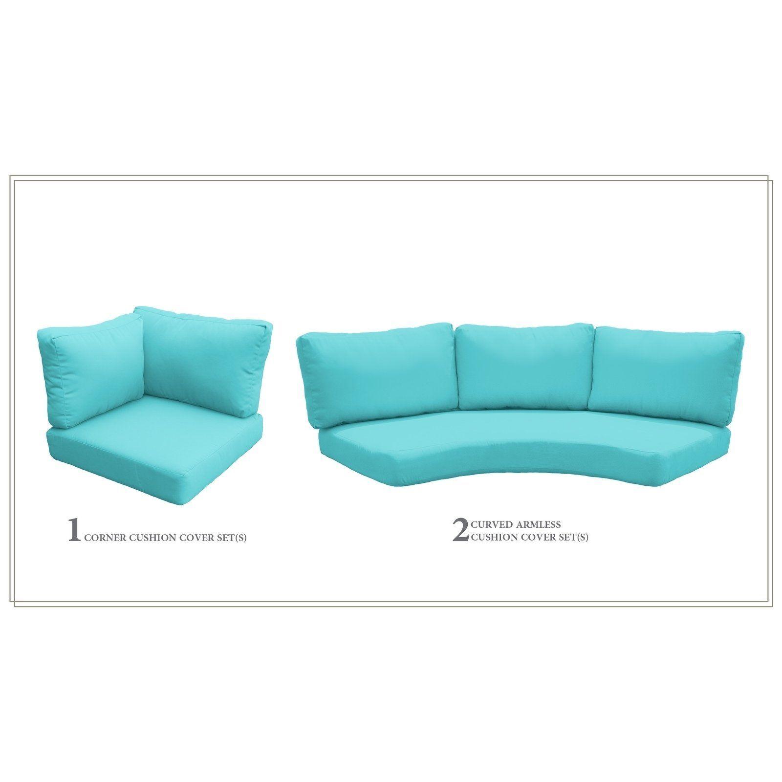 Tk Classics Laguna Tangerine Outdoor High Back Cushion Set