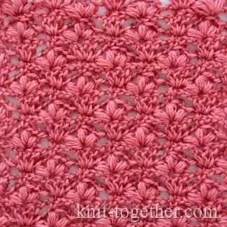 Learn A New Crochet Stitch: Cherry Blossoms Stitch - Knit And Crochet Daily