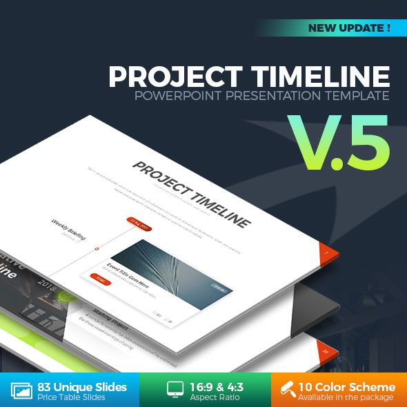 Project Timeline PowerPoint Template Timeline, Template and
