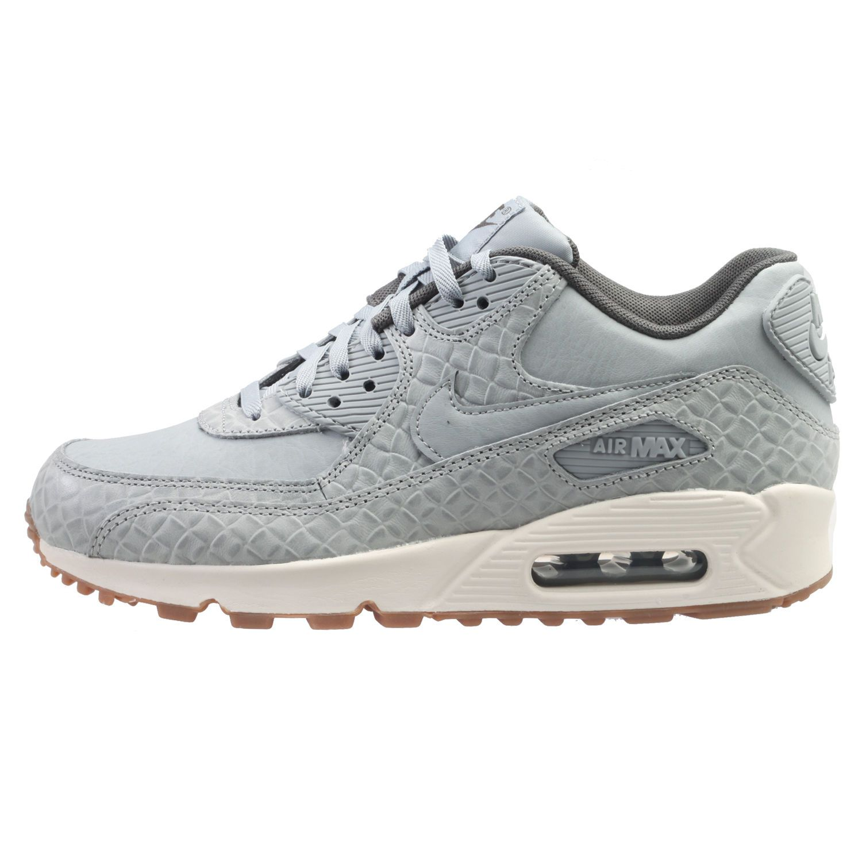 buy popular a6389 3b482 Nike Baratos · Botas De Mujeres · Nike Air Max 90 Premium Womens 443817-011  Matte Silver Running Shoes Size 10