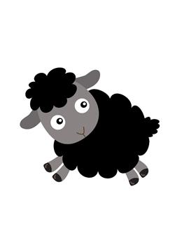 Sheep Clipart Black And White : sheep, clipart, black, white, Family, Reunion, Ideas, Sheep, Tattoo,, Black, Illustration