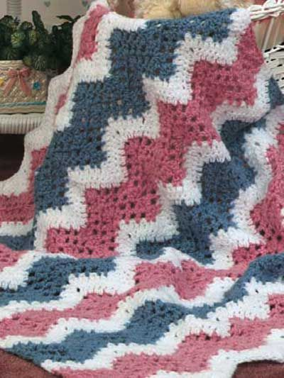 Free Pattern For Extra Quick To Crochet Baby Ripple Afghan Crochet