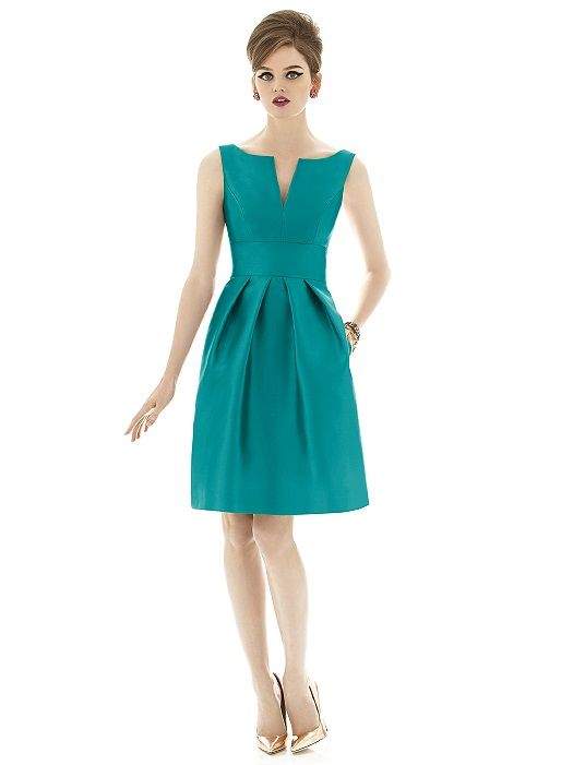 Alfred Sung Style D654 - Teal/Turquoise bridesmaid dress