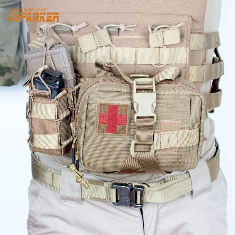 Outdoor Tactical Molle Medical First Aid Edc Pouch Phone Pocket Bag Organizer GR