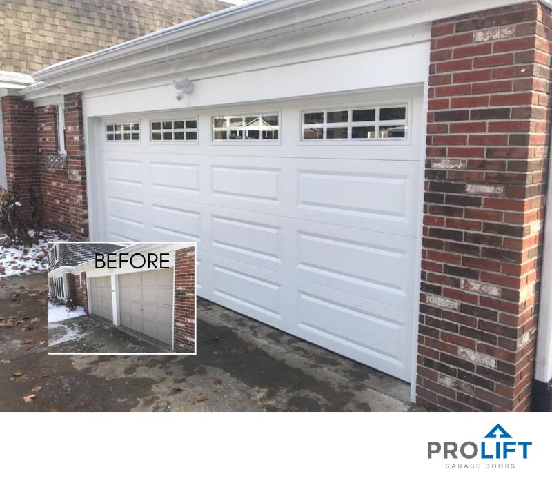 Converting Two Single Garage Doors To One Double Door Single Garage Door Garage Door Styles Garage Doors