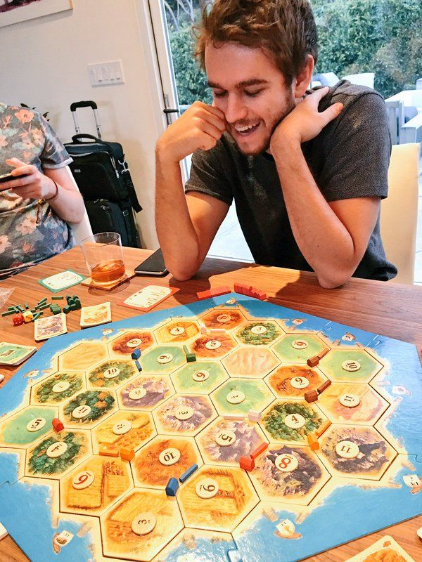 Zedd & catan board game