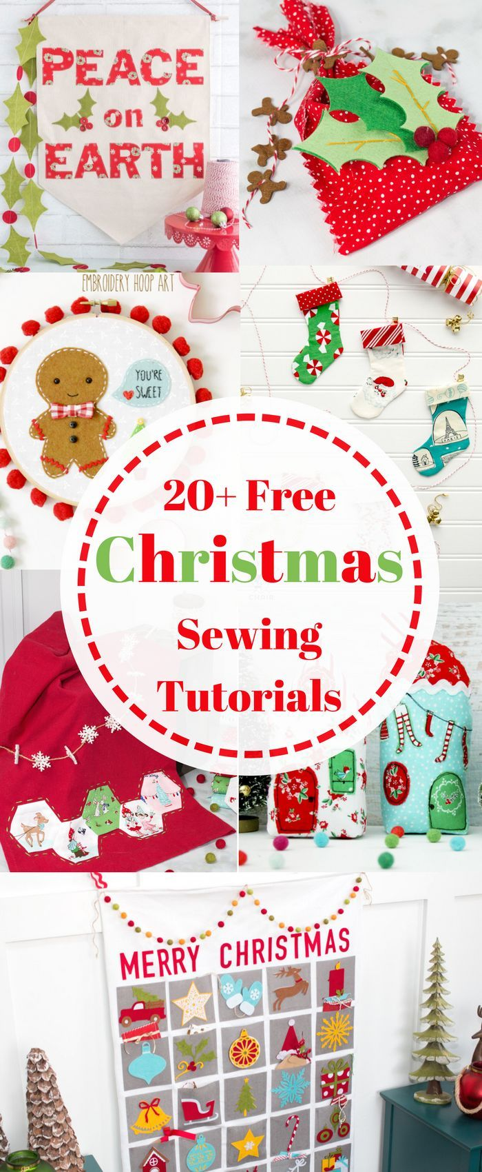 20+ Christmas Sewing Projects | Pinterest | Tutorial sewing, Free ...