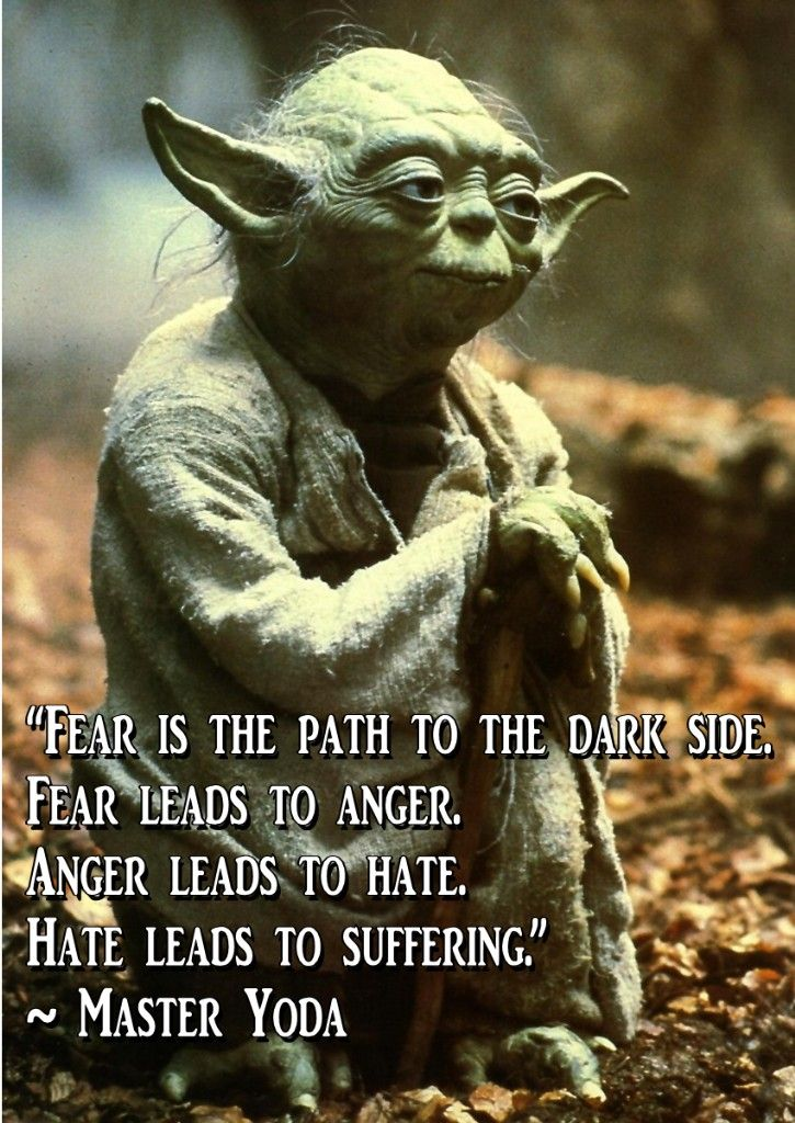 Image result for yoda fear leads to anger