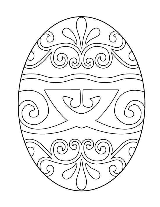 easter coloring pages printable easter egg coloring page 3 - Free Page 3