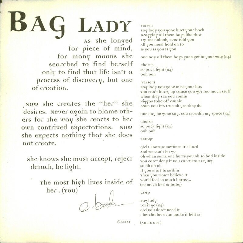 bag lady song