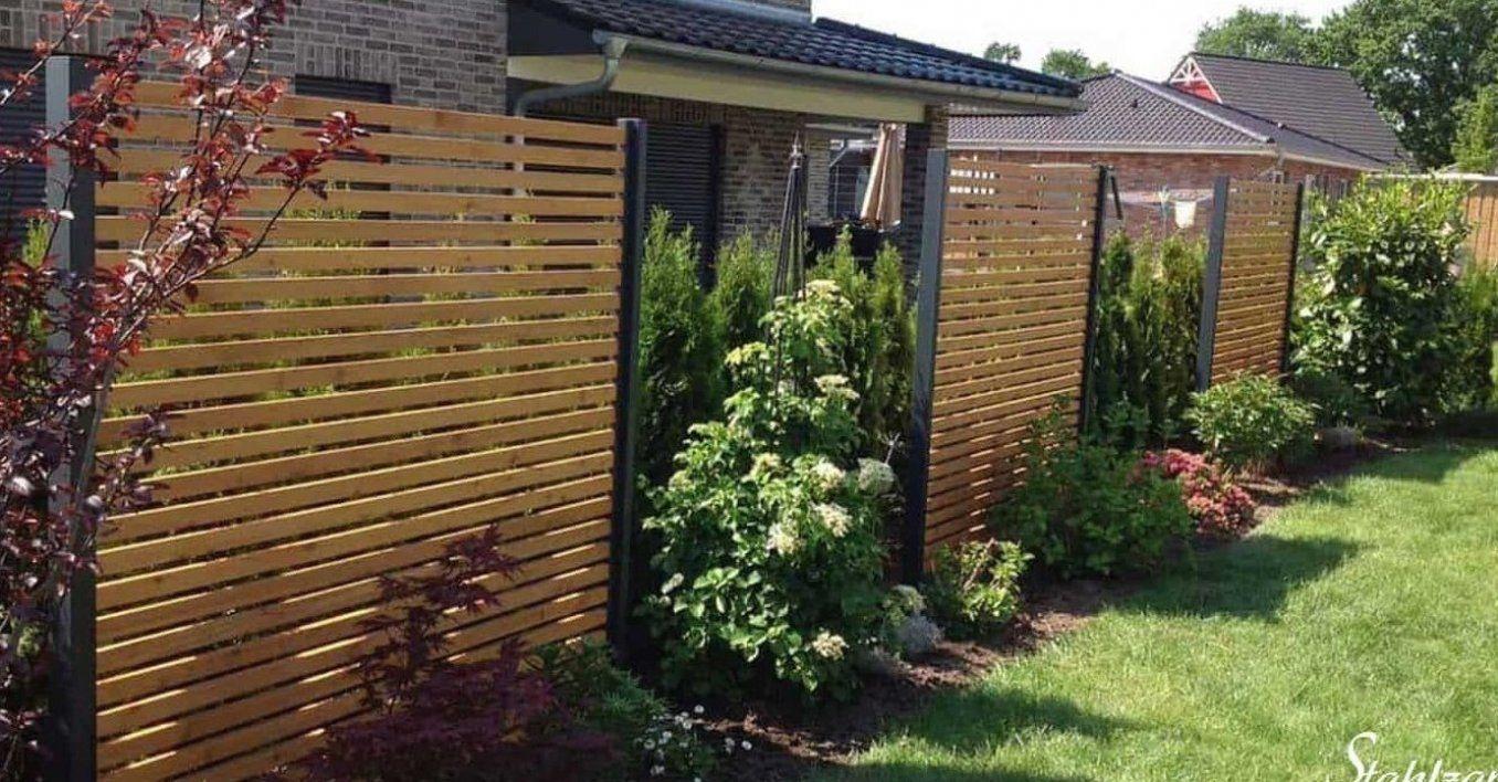 Sichtschutz Garten Holz L Rche Metall Anthrazit Modern Stahlzart Terrasseni Garden Privacy Screen Garden Design Creative Gardening