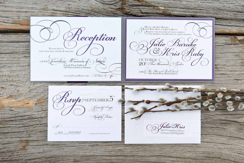 WishtreeInvites Sleeve | Purple and Grey | Elegant | Typography ...