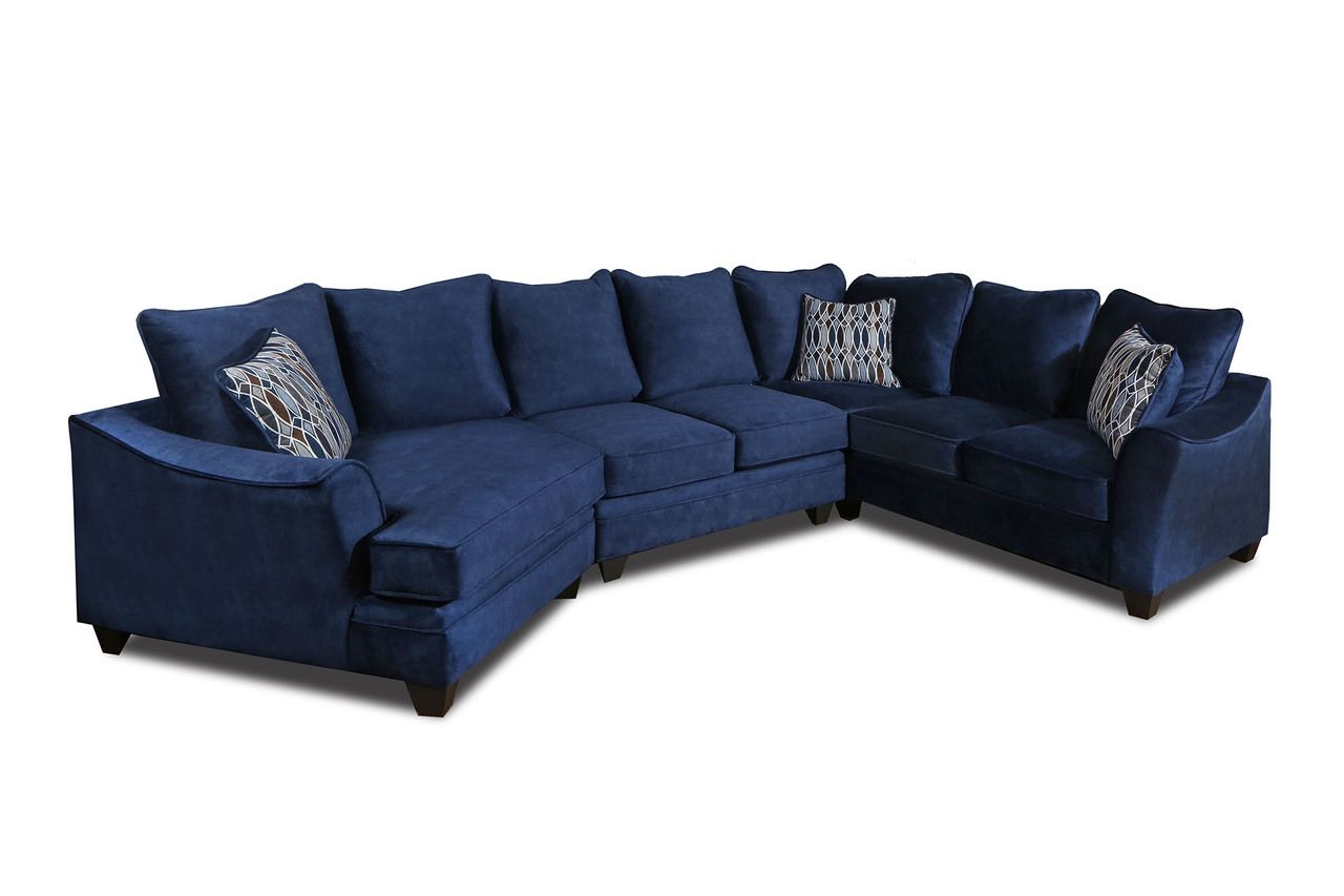 American Athena Blue Sectional Sofa In 2020 Blue Sectional Sectional Sofa Navy Sectional