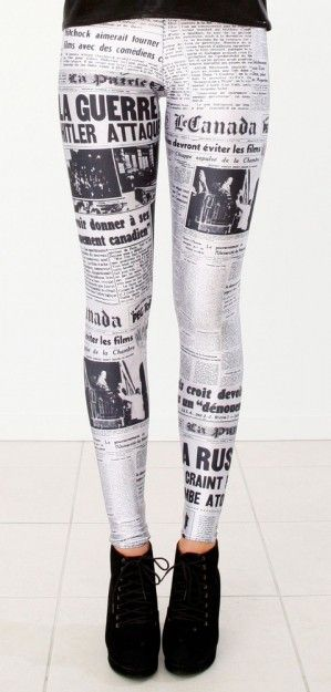Crossing my fingers these Blackmilk Newspaper Leggings make a comeback one day!