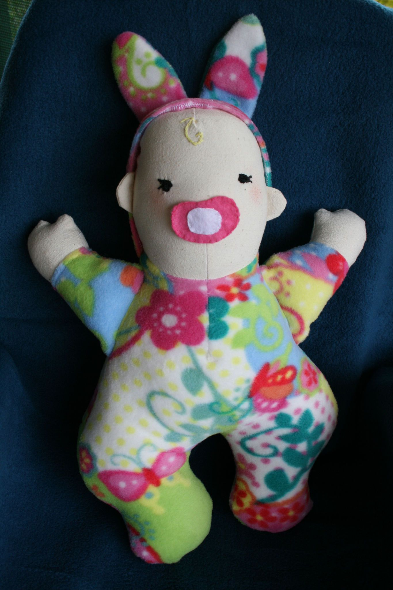 rag doll baby. I used a funky friends pattern. http://www.funkyfriendsfactory.com/products/patterns/cloth-doll-patterns/bedtime-baby-doll-instant-download