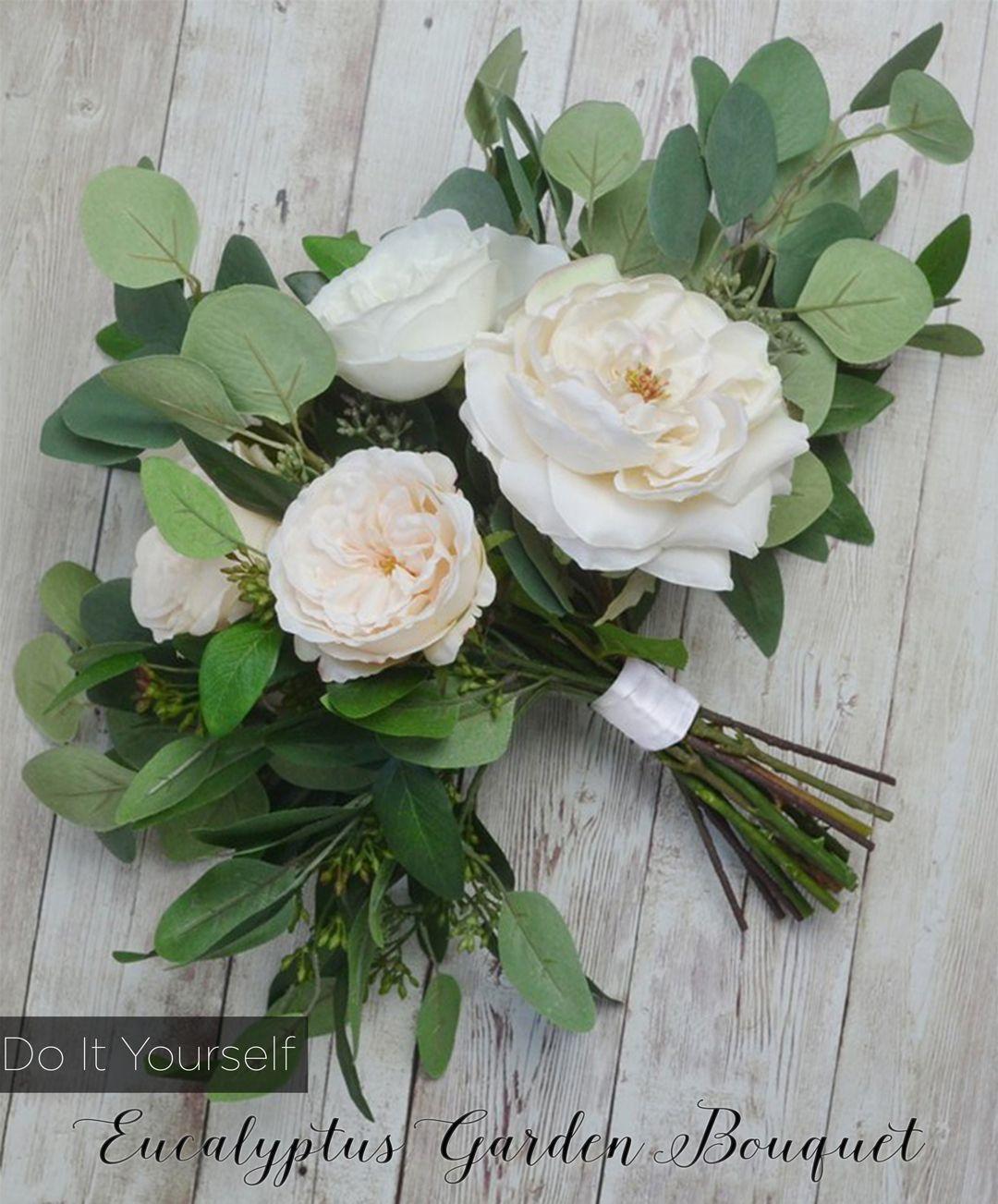 Diy Eucalyptus Bouquet Diy Bridal Bouquet Artificial Bouquets Wedding Flower Bouquet Wedding