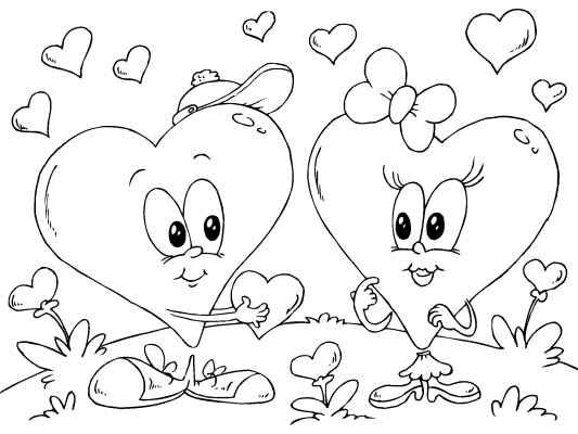 a fun valentines day coloring page color it in online and then print at - Coloring Page Valentines Day Card