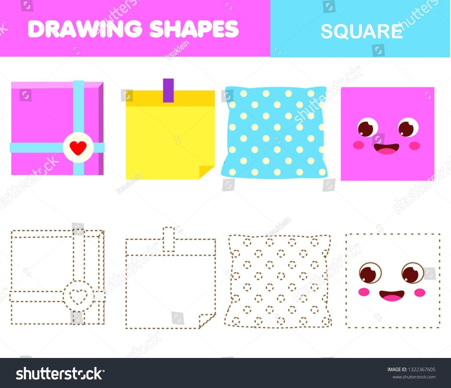 22 Geometric Shapes Kindergarten Worksheets On Drawing