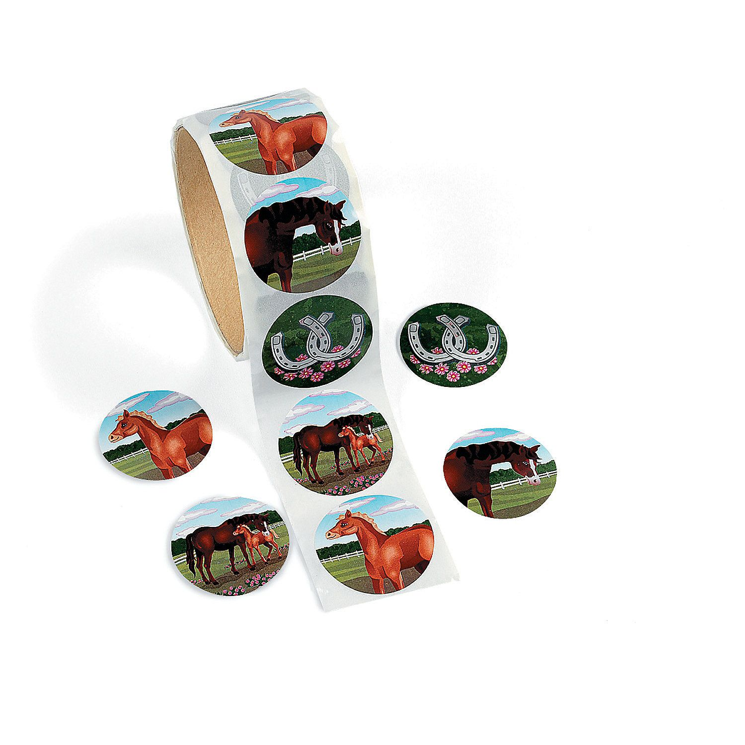100 per roll Western Party Stickers