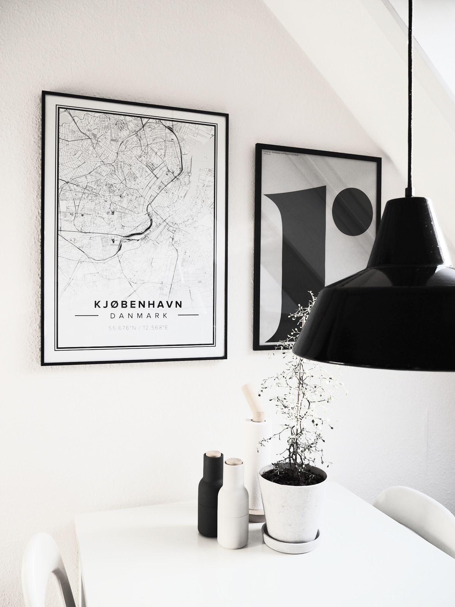 Map Poster Of Copenhagen Denmark Print Size 50 X 70 Cm Custom Black