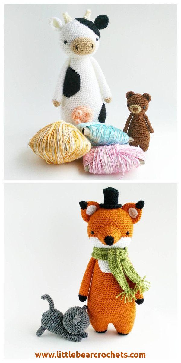 Crochet patterns by Little Bear Crochets (free cat pattern!): www ...