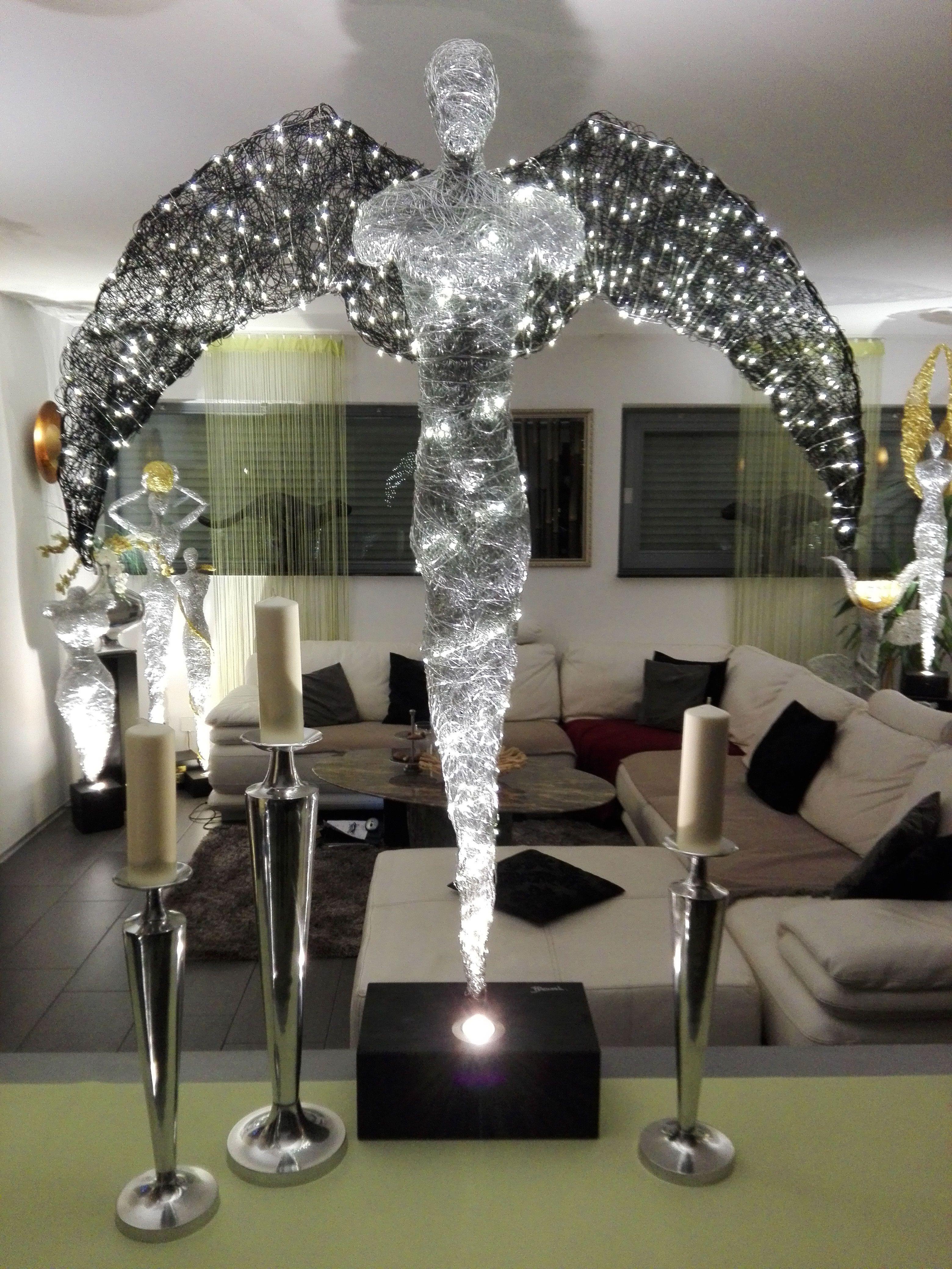 Design Lampen Skulptur Leuchten Led Licht Kunst Made In Germany Schoner Wohnen Deutschland Weihnachtsengel Einrichtung Acc Papier Mache