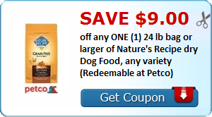 23 In Nature S Recipe Pet Food Coupons Redeemable At Petco Dog Food Recipes Dry Dog Food Printable Coupons