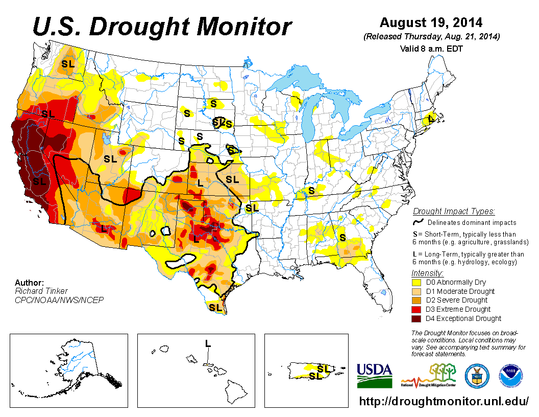 Current US Drought Monitor Scoffers beware refusal to believe