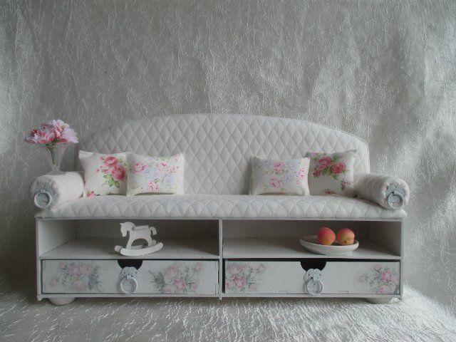 """Диван-полка """" Эксклюзив """" ( с выдвижными ящиками) Для кукол от 30 до 43 см / Кукольная мебель / Шопик. Продать купить куклу / Бэйбики. Куклы фото. Одежда для кукол"""