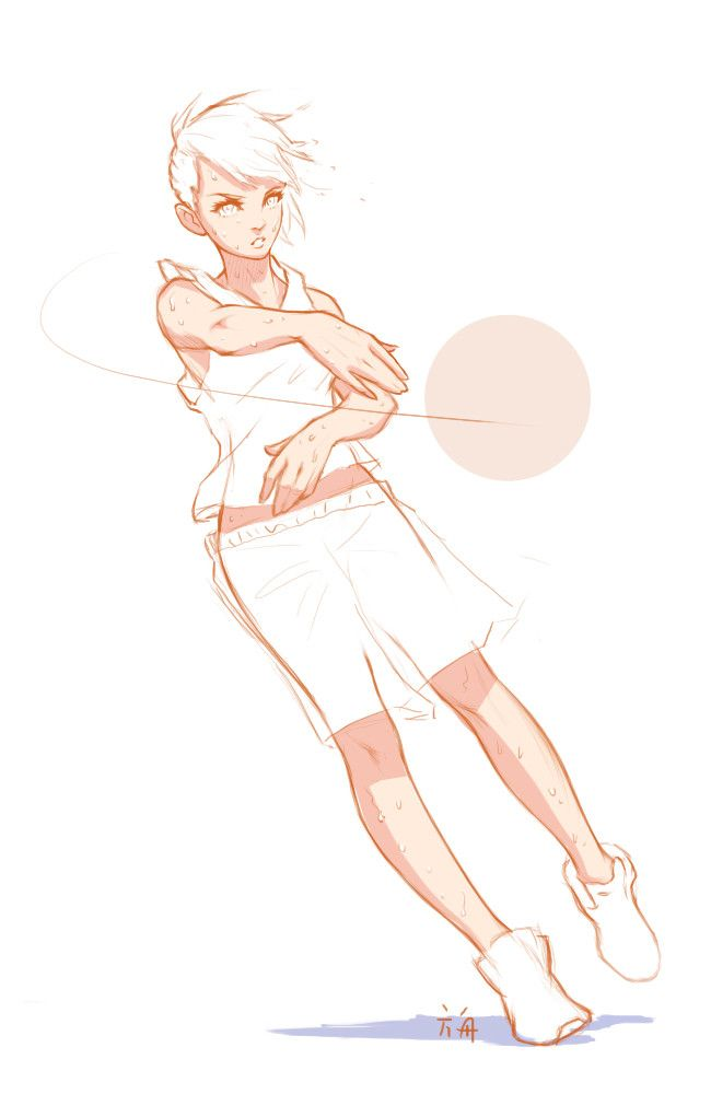 Old Stuff 5 Fangjo He Sports Drawings Art Reference Poses Art