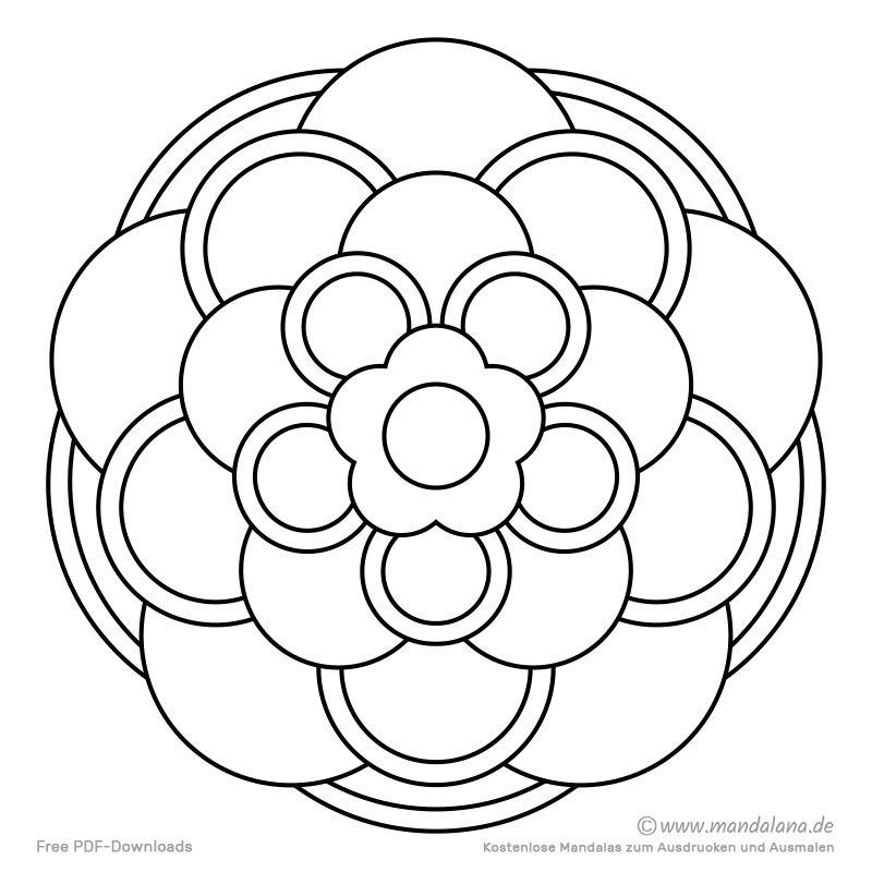 Mandala Malvorlagen Einfache Formen Zum Ausmalen Mandala Malvorlagen Mandalas Zum Ausmalen Ausmalen