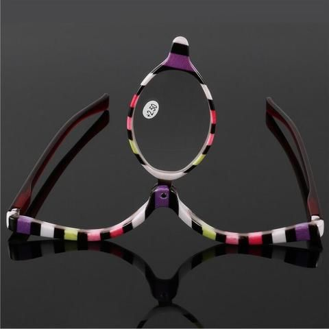 994db269d6a Colorful Readers Magnifying Makeup Glasses Eye Make Up Spectacles Flip Down  Lens Folding Cosmetic Womens Reading Glasses
