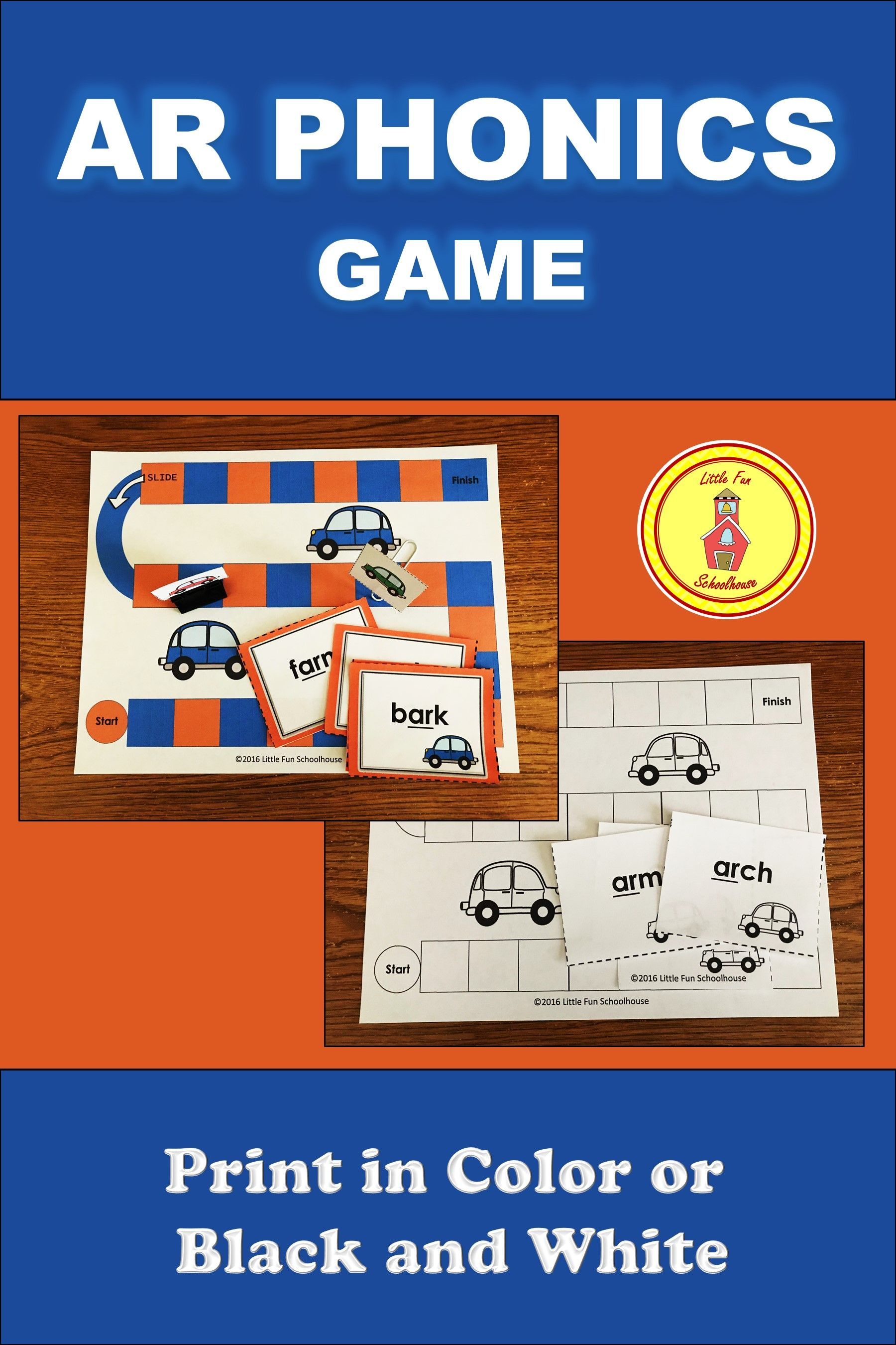 R Controlled Vowel Phonics Game With Ar Word Flash Cards