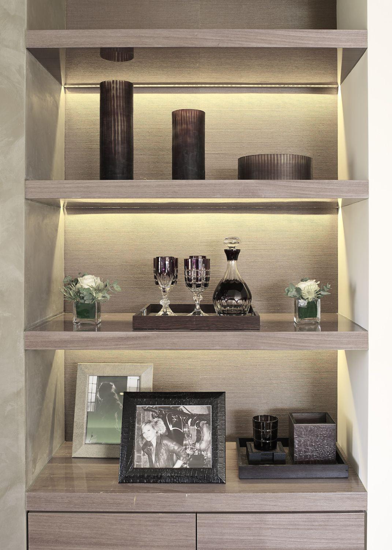 Recessed Lighting In The Shelf