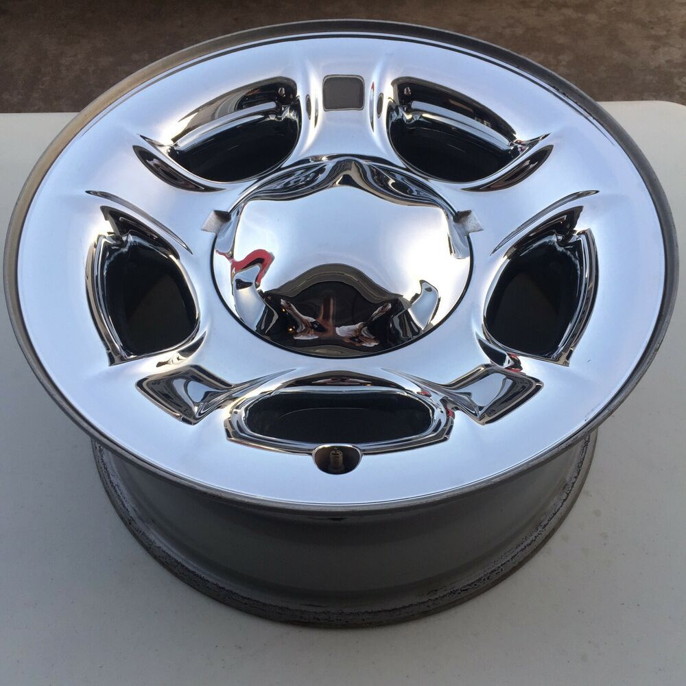99 03 Wheel Rim Ford F150 Expedition Oem Factory Chrome Clad Steel Oem 3329 Ford Wheel Rims Ford Expedition F150