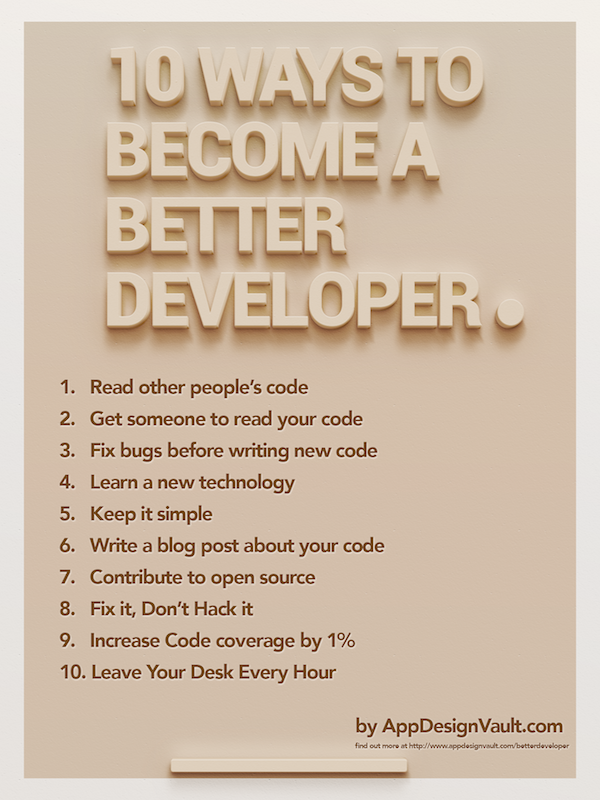 10 ways to become a better developer