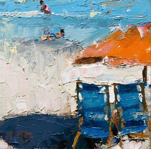 """Daily+Paintworks+-+""""Day+in+August""""+-+Original+Fine+Art+for+Sale+-+©+Randall+Cogburn"""
