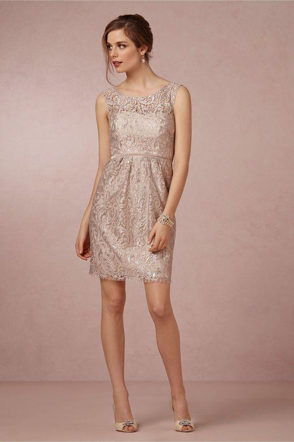 Harlow Dress BHLDN glitter gold Bridesmaid Dress | Wedding Ideas ...