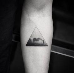 Awesome unicorn tattoo by Balazs Bercsenyi