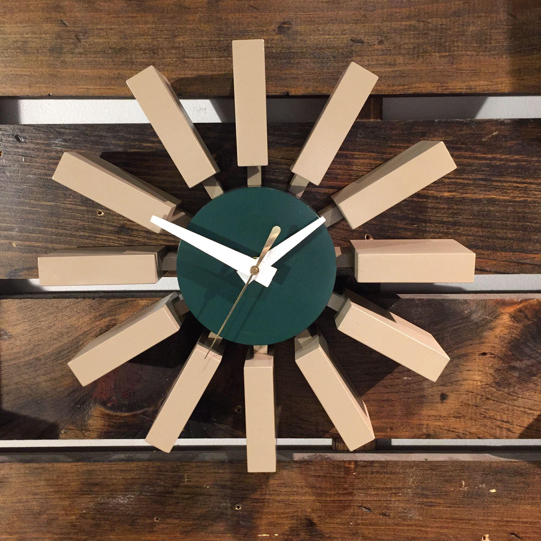 Rare George Nelson Block Starburst Clock These Clocks Were
