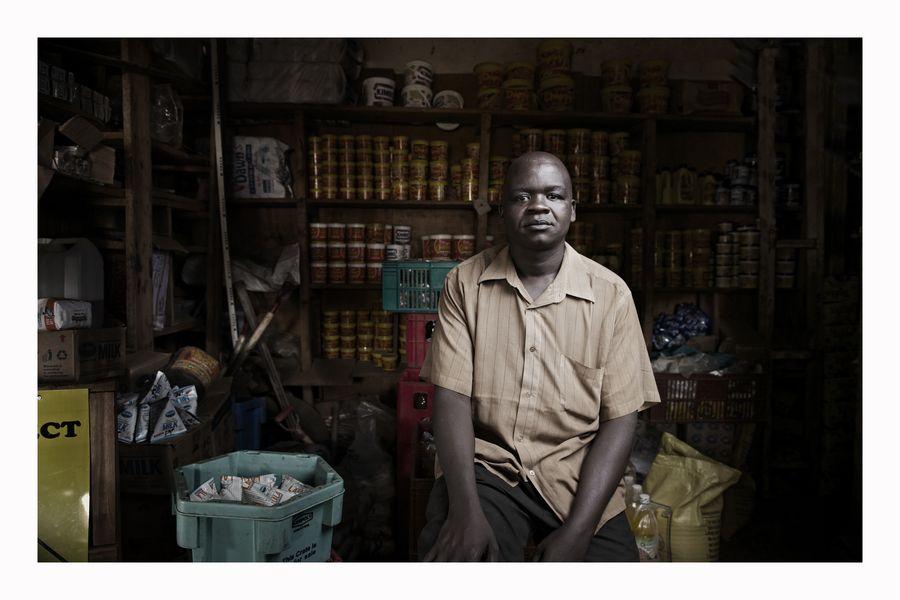 The Corner Shop Owner by Antony Blake