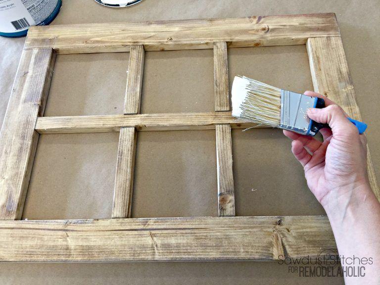 Diy Rustic Window Frame By Sawdust2stitches For Remodelaholic Com 3 Window Frame Decor Diy Window Frame Frame Decor