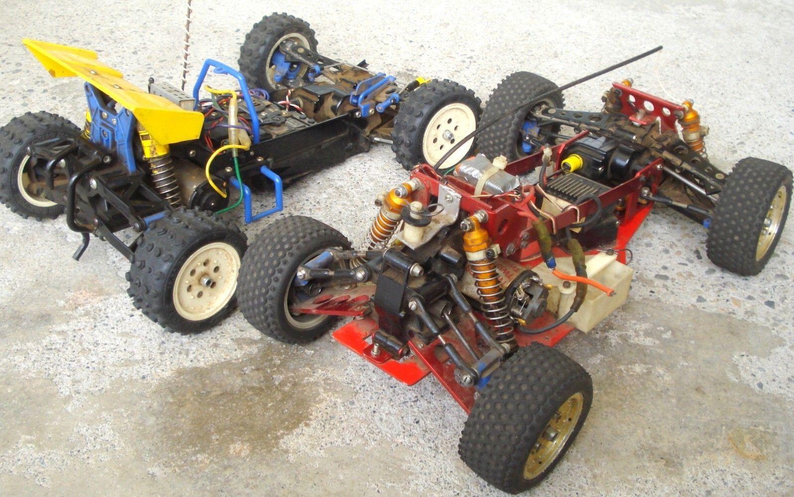 Lot of 2 VINTAGE TAMIYA R/C HOTSHOT 4WD w Hot Trick