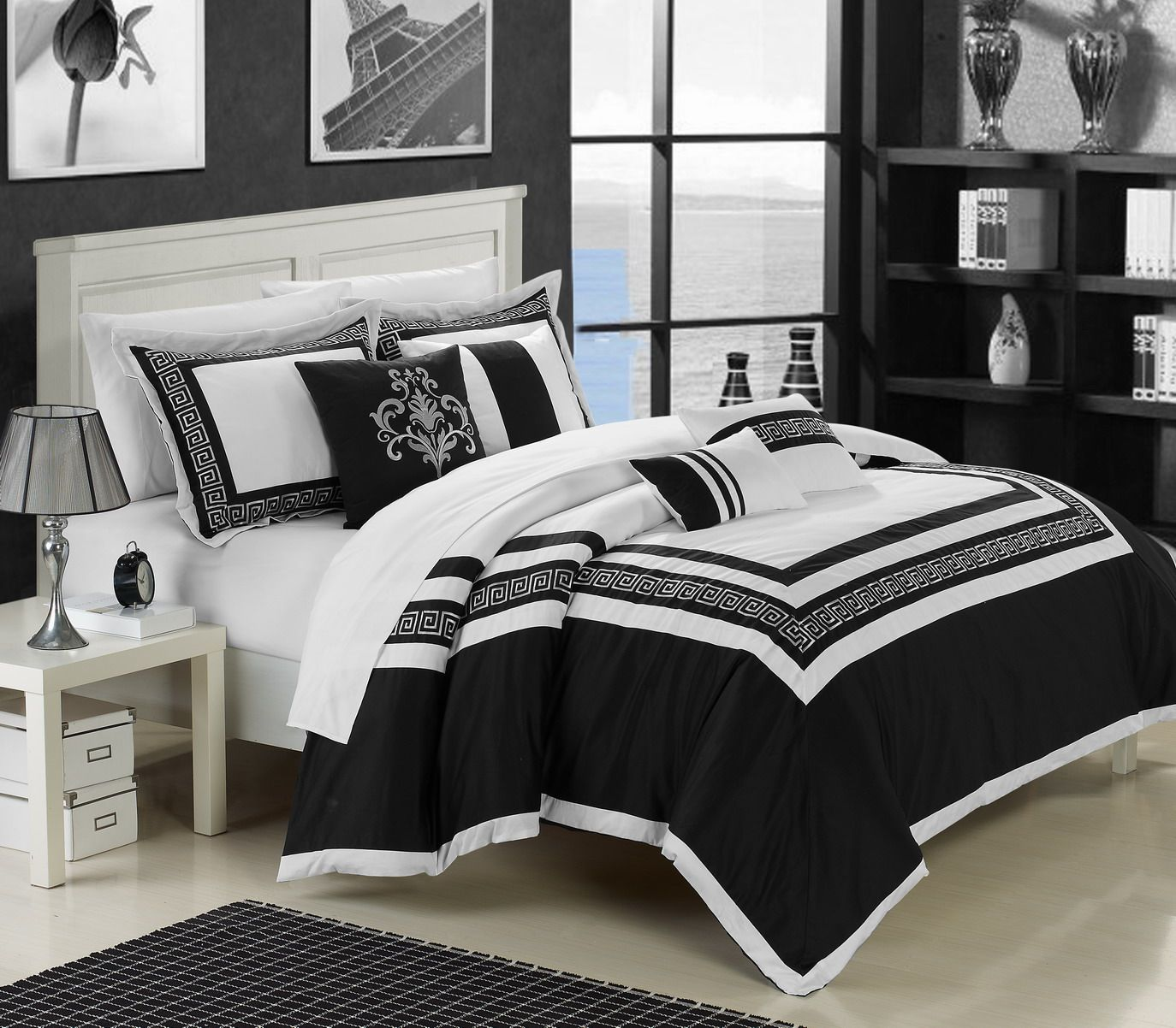 Robot Check White Bed Set Bedding Sets White Bedding Black and white sheet set